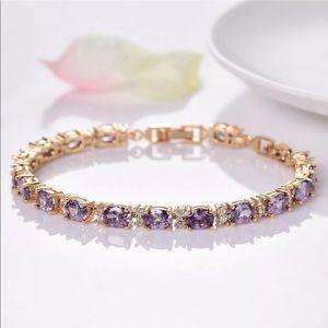18k GF amethyst tennis bracelet
